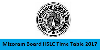 Mizoram Board HSLC Time Table