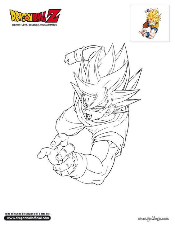 Imagenes De Dragon Ball Z Para Colorear Y Todos Sus Personajes Con