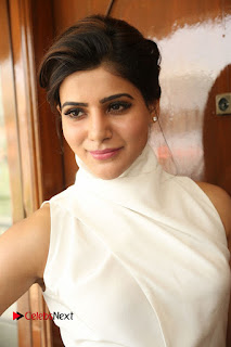 Actress Samantha Latest Picture Gallery in White Stylish Dress  0076