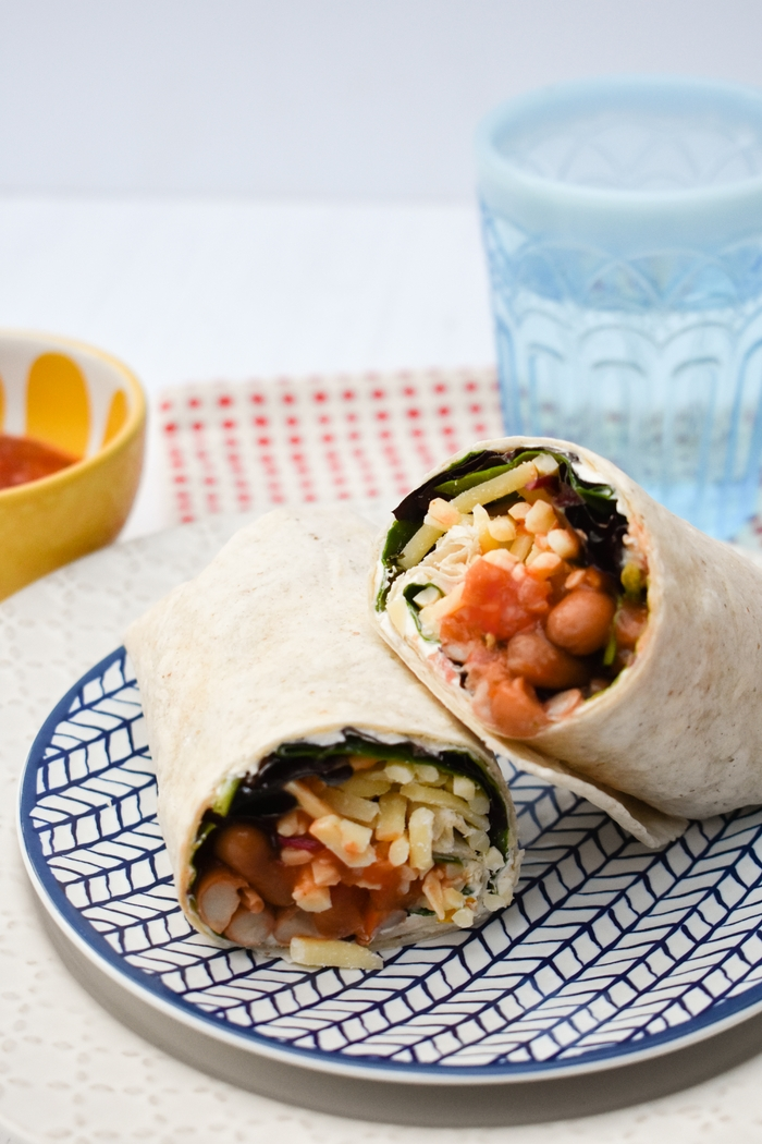 Spicy Bean Lunch Wrap