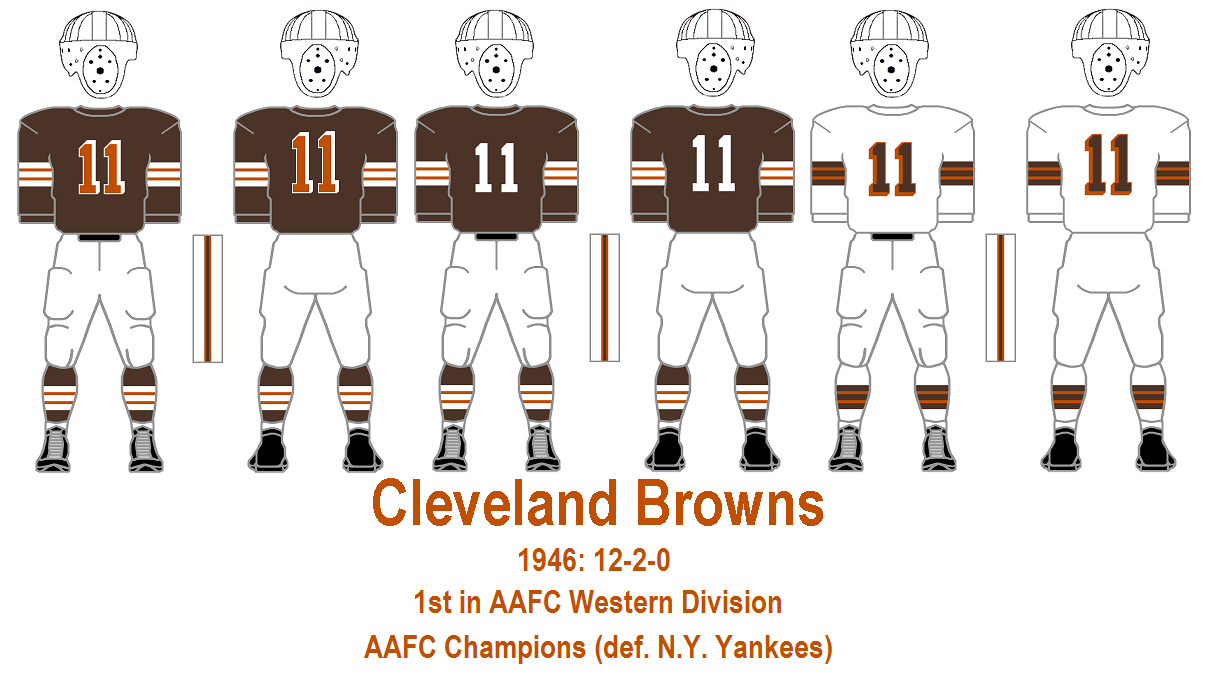 The Gridiron Uniform Database: The Cleveland Browns Uniform History