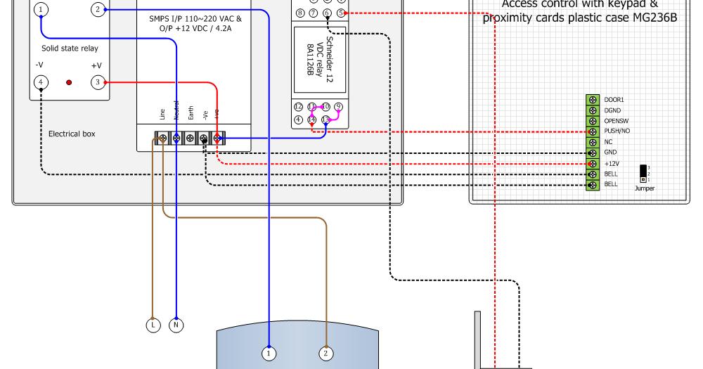 Eng Shady Mohsen blog: Access control MG236B wiring diagram