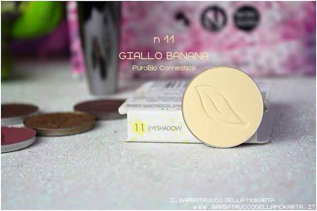 n 11 GIALLO BANANA recensione inci ombretto eyeshadow Purobio Cosmetics