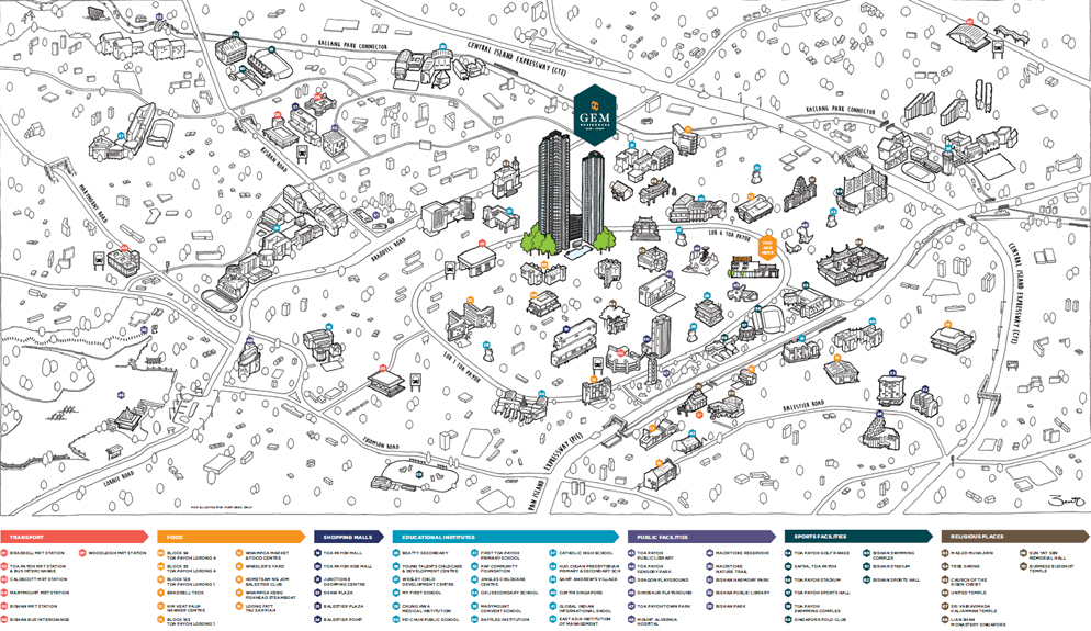 Gem Residences Map