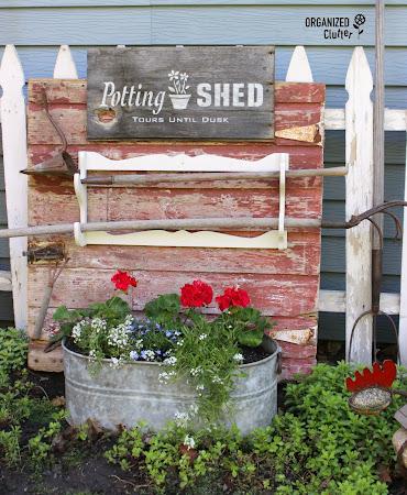 Potting Shed Sign & Junk Garden Decor