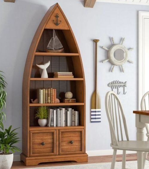 Decorative Boat Bookcase