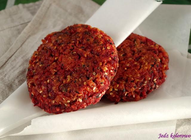 burgery jaglano-buraczane