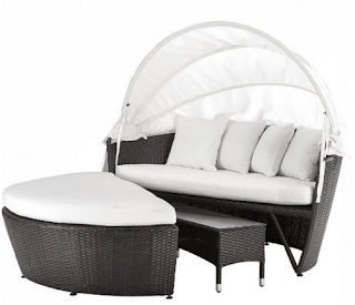 Convertible  Outdoor Canopy Daybed