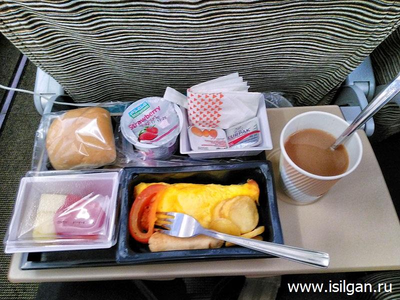 Питание на борту самолета. Компания Этихад