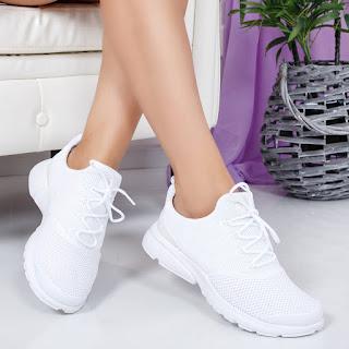 Pantofi sport Milinavi albi