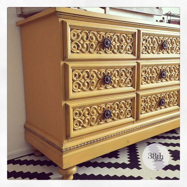 mustard yellow, how to add legs to a dresser, painted dresser, dresser makeover, refinished dresser, diy,