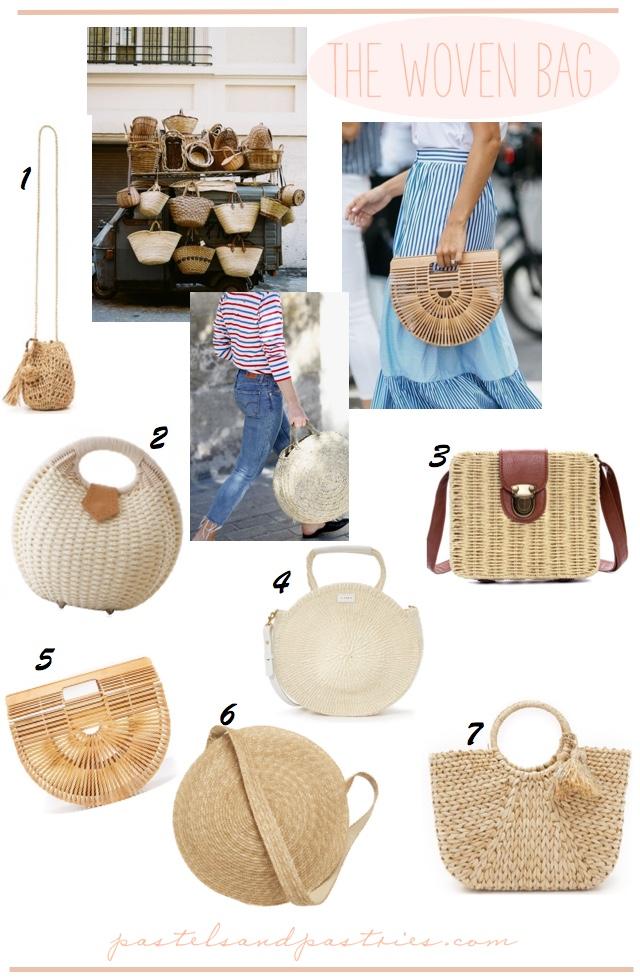 Woven Bamboo Straw Bags - Cult Gaia, Hat Attach, Sensi Studio, Clare V. , Samuji