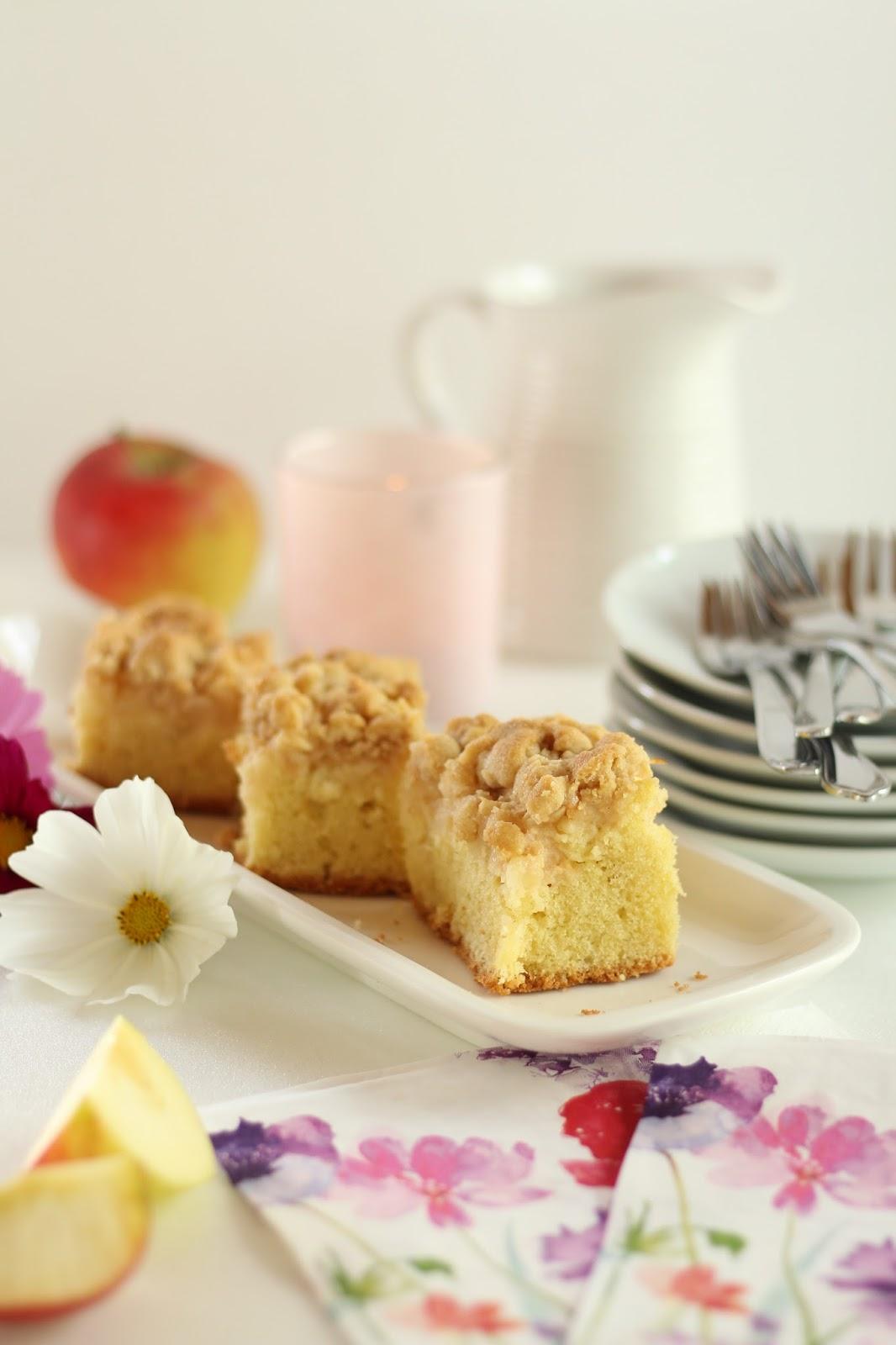 Der klassische Apfelkuchen mit Zimtstreuseln als Krönung