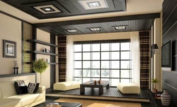 Model Warna Plafon Ruang Tamu Kecil Lesehan