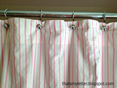 diy shower curtain from a sheet