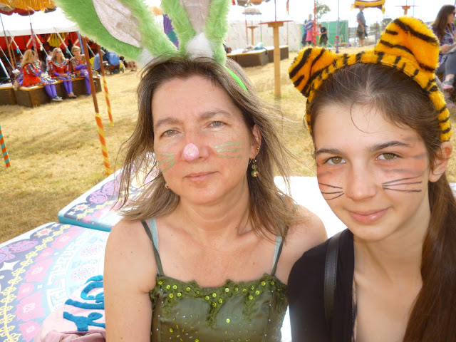 face paint rabbit and tiger