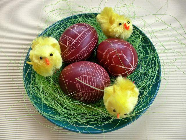 jaja, święta, Wielkanoc, kurczaki