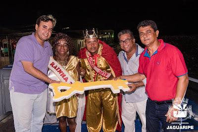 JAGUARIPE: Prefeito Hunaldo Costa fez a entrega da chave da cidade ao Rei Momo