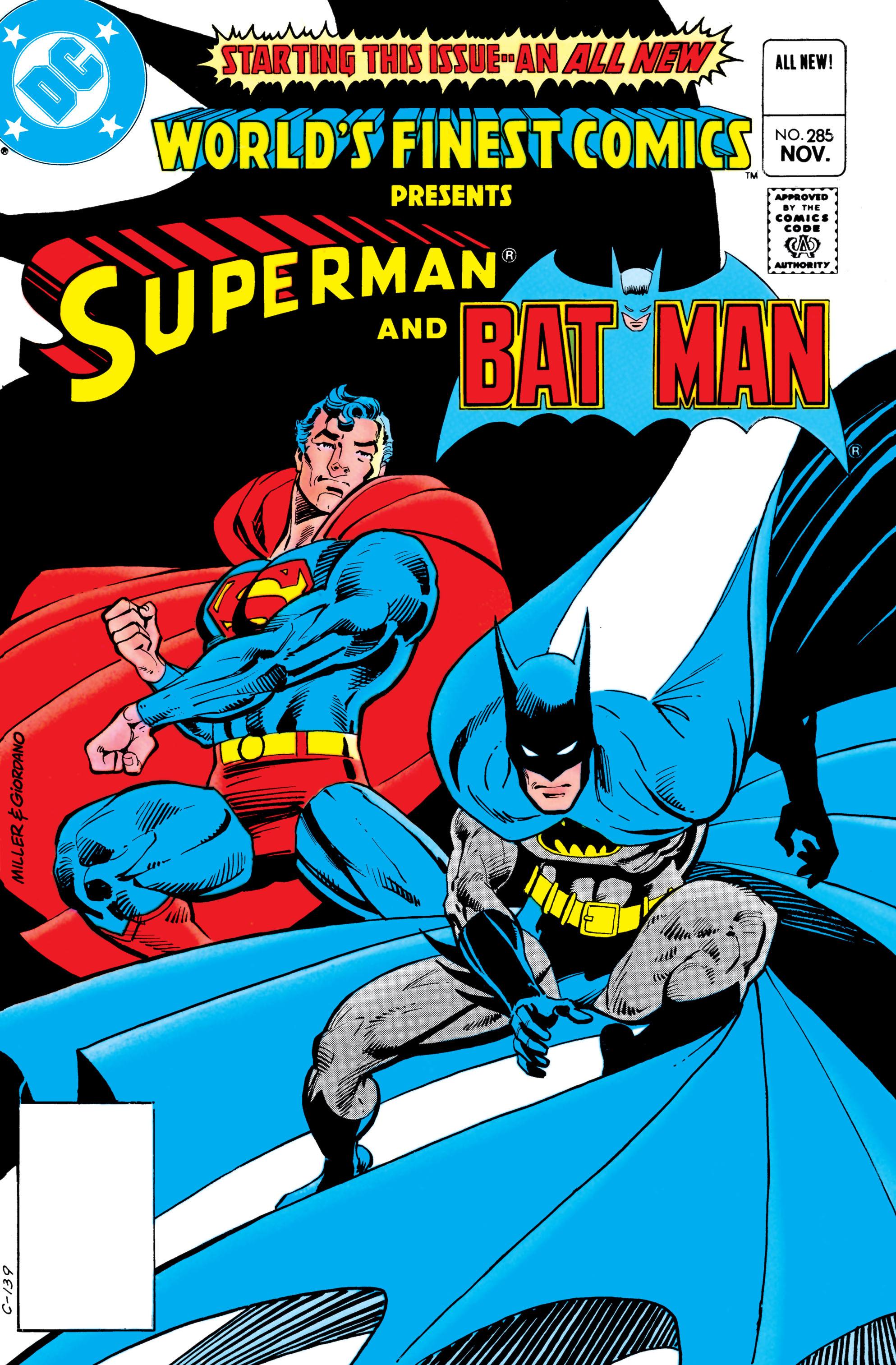 Read online World's Finest Comics comic -  Issue #285 - 1