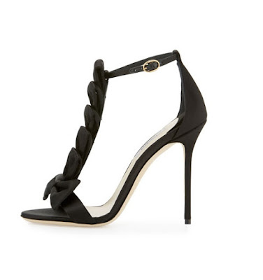 Olgana Paris delicate bow t-strap Sandal in black