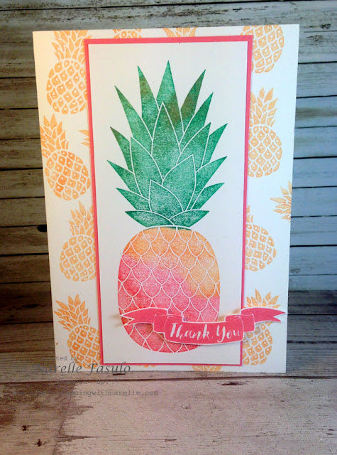 Pineapple - Narelle Fasulo - Simply Stamping with Narelle