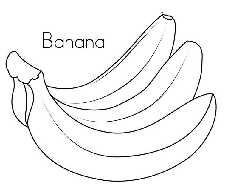 Blog De Geografia Banana Desenho Para Imprimir E Colorir