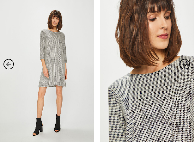Rochie Basic casual scurta gri cu maneci trei sfert ieftina la moda