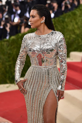 kim kardashian on the red carpet of the Met Gala 2016