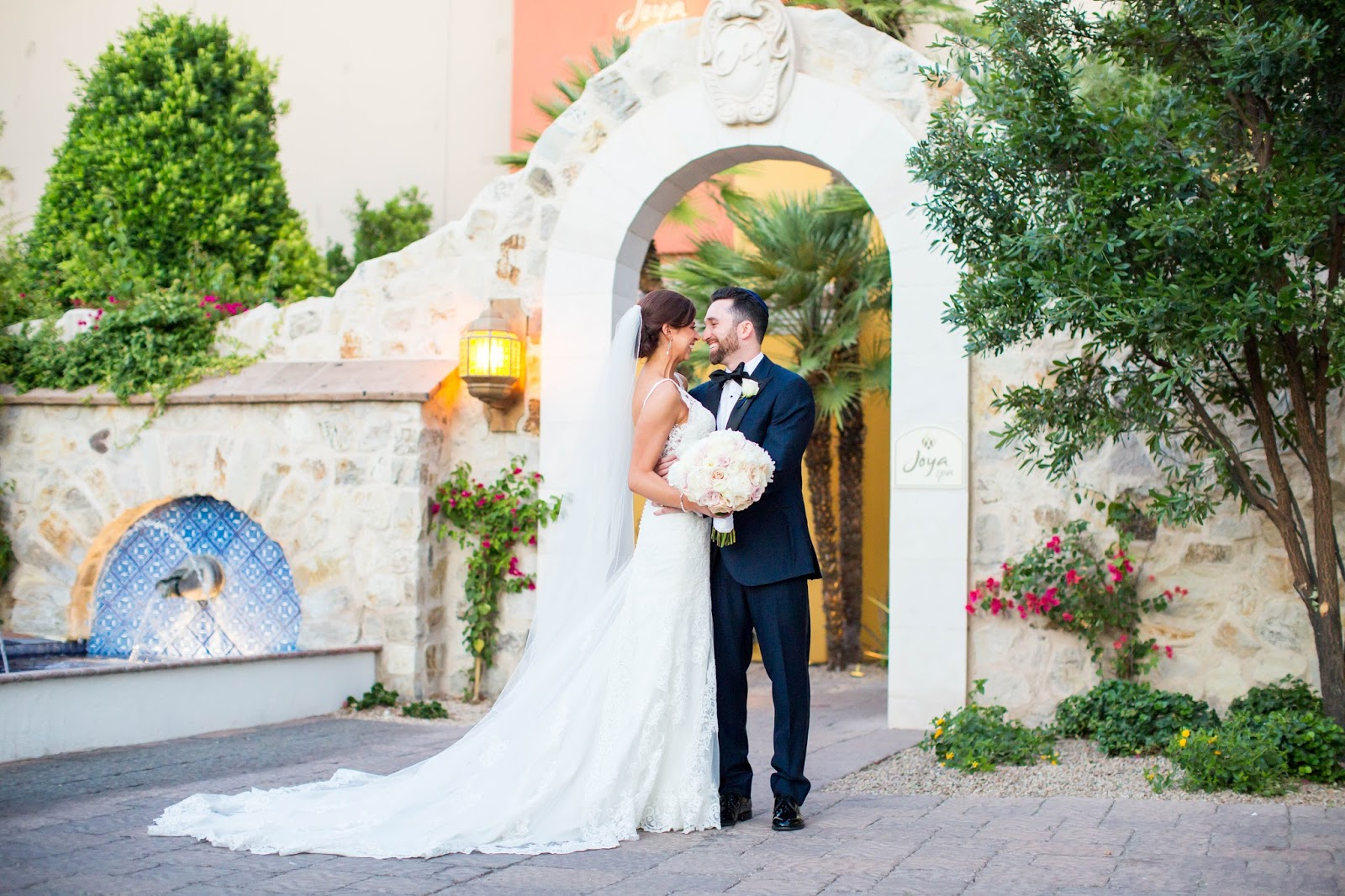 Romantic Bride and Groom at Montelucia in Arizona
