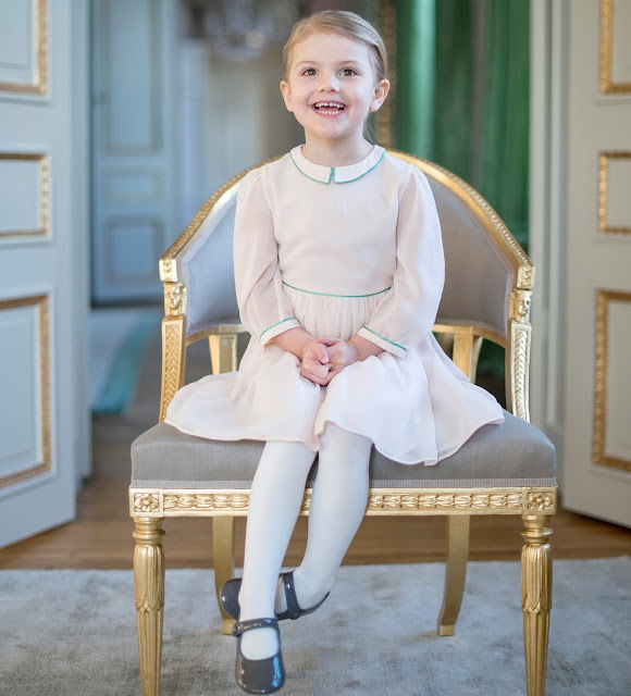 Princess Estelle of Sweden celebrates her 4th birthday. Royal House of Sweden published Crown Princess Family's new official photos, Crown Princess Victoria and Prince Daniel