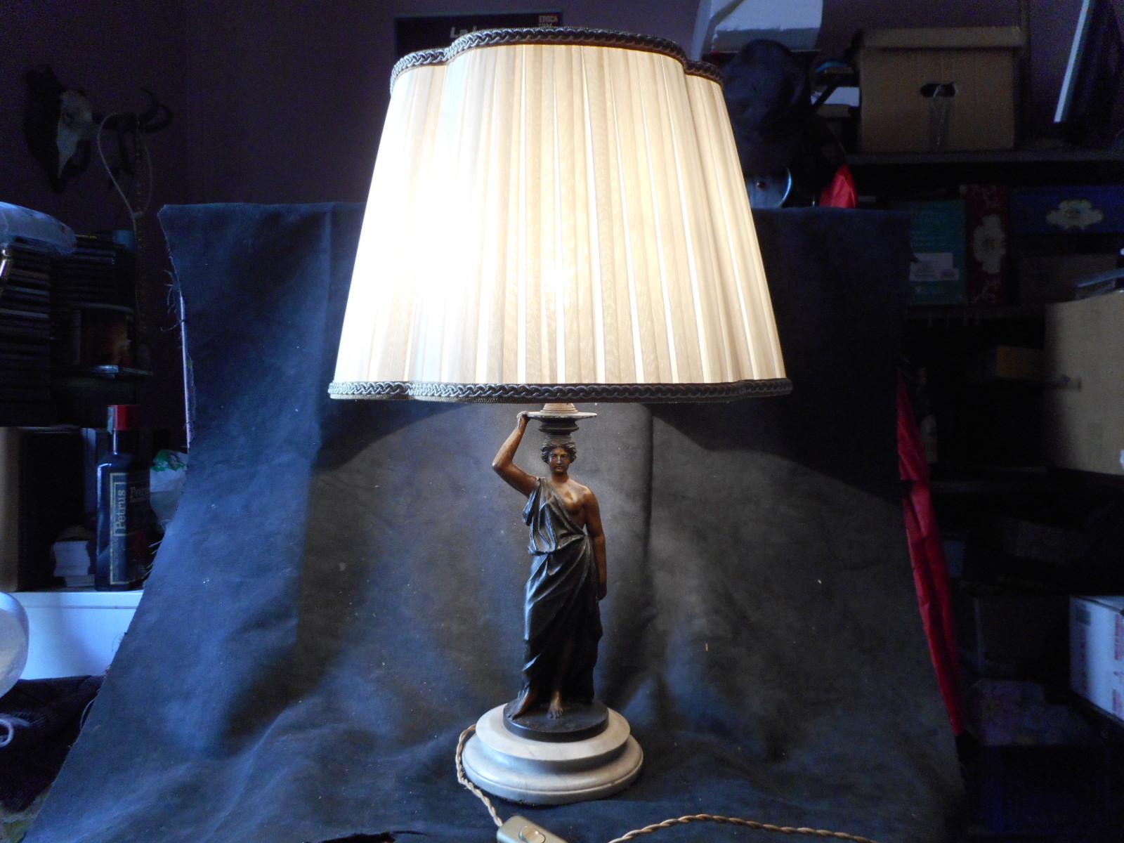 Lampade Da Tavolo Lavoro : Favolosa lampada da tavolo scultorea antimonio come da foto in