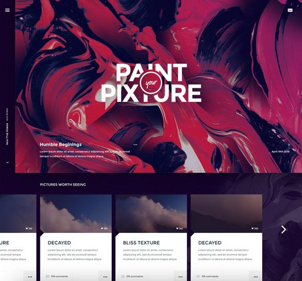 Pixture – Free photoshop PSD