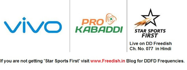 Watch Vivo Pro kabaddi League on DD Freedish