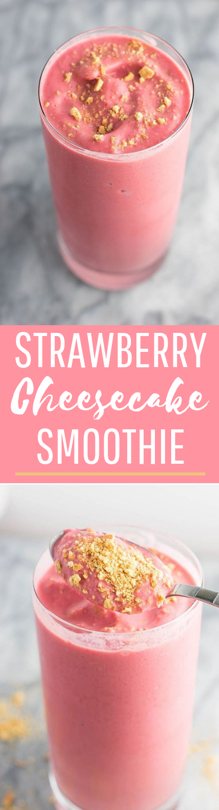 Strawberry Cheesecake Smoothie #drinks #breakfast