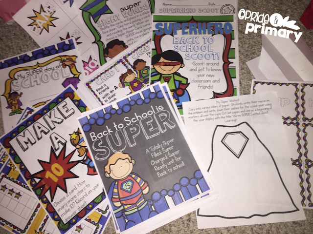 Super Hero Back to School Unit