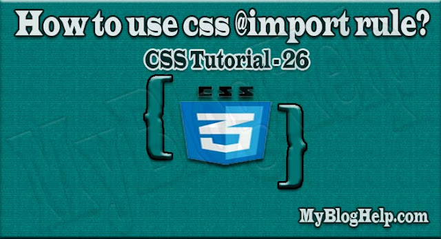 css @import rule