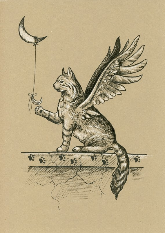14-A-Gift-Lucie-Ondruskova-LucieOn-A-Glimpse-of-Fairyland-Animals-in-Drawings-www-designstack-co