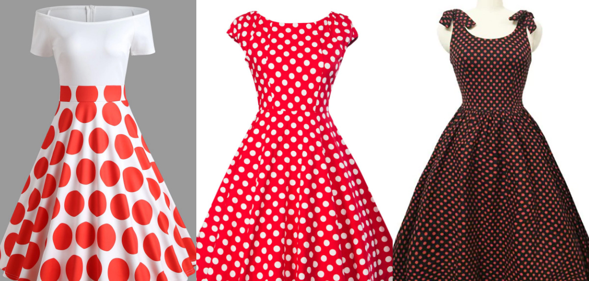 red polkadot dresses