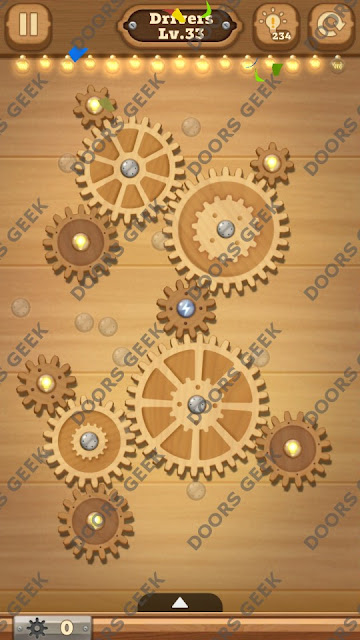 Fix it: Gear Puzzle [Drivers] Level 33 Solution, Cheats, Walkthrough for Android, iPhone, iPad and iPod