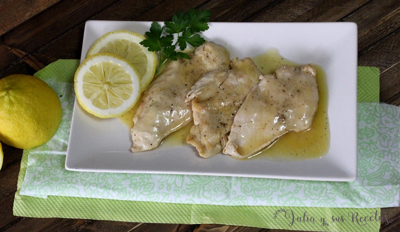 Julia y sus recetas pechugas de pollo en salsa de lim n - Pechuga d pollo en salsa ...