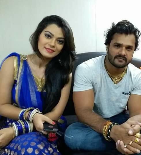 Nidhi Jha 2019 HD Wallpaper with Khesari Lal Yadav