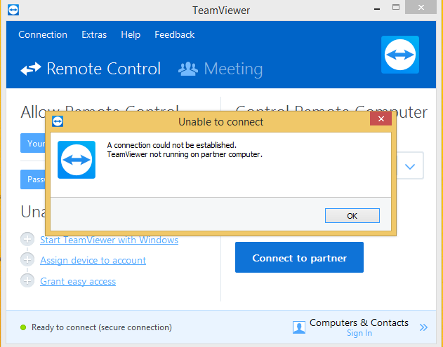 SOLVED) How to fix Team viewer not running on partner computer