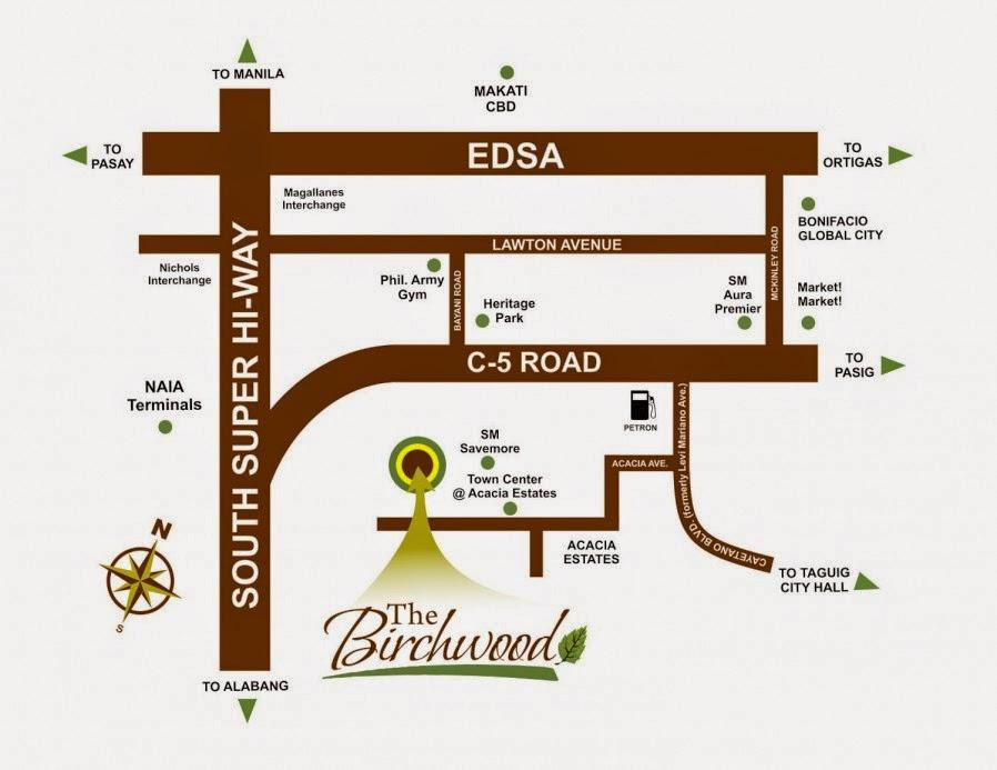 The Birchwood Location Map