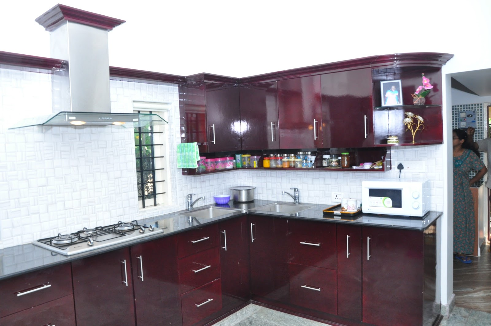 Multi Wood Kitchen Cabinets In Kerala