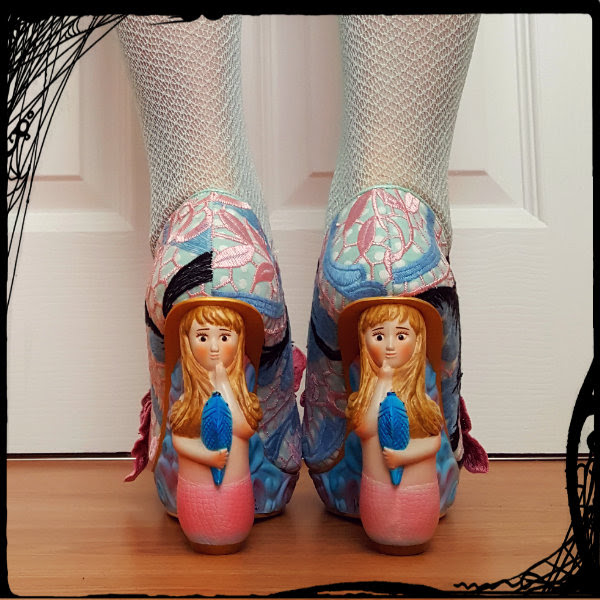 wearing irregular choice aquata mermaid heels