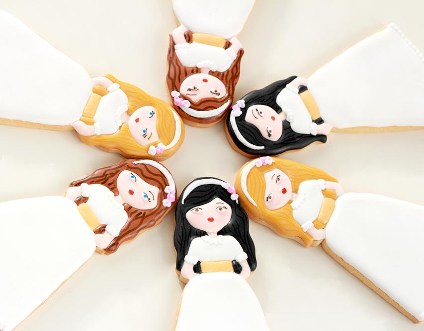 Galletas decoradas comunión niña