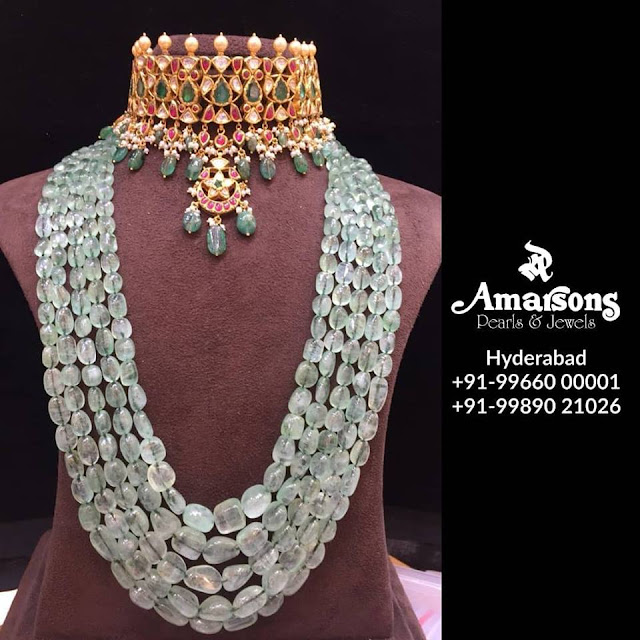 Multiple Layers Beads Harams by Amarsons Jewellers