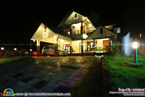 Finished house project in Kerala