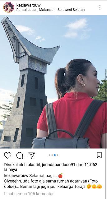 [FOTO] Akan Menikah Dengan Pemuda Toraja, Miss Universe Ini Pamer Foto di Tongkonan