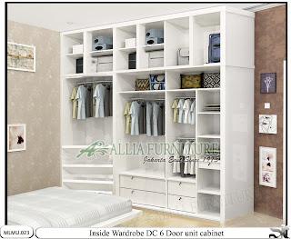 Dalam lemari pakaian minimalis cabinet unit DC